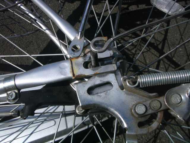 自転車 タイヤ 交換 後 輪 内装 3 段